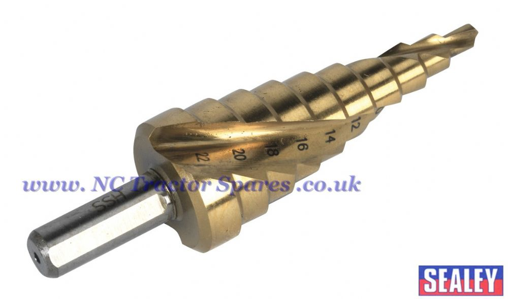 Step Drill Spiral Flute Titanium Coated 4-22mm